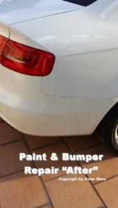 Paint bumper repair after